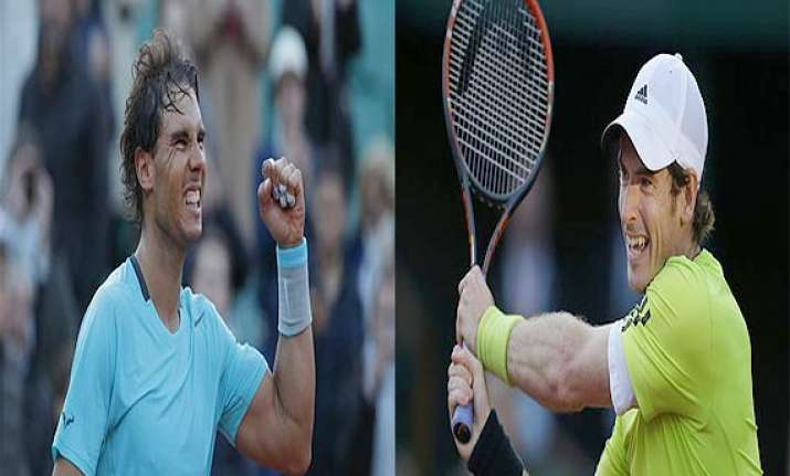rafael nadal andy murray set up french open semi final