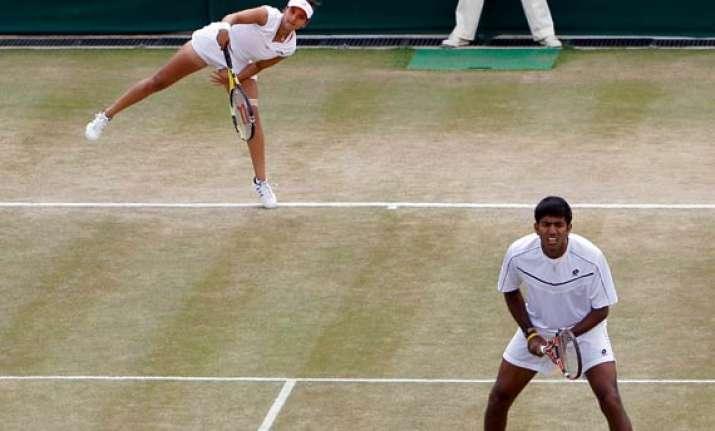 sania bopanna enter wimbledon mixed doubles qf