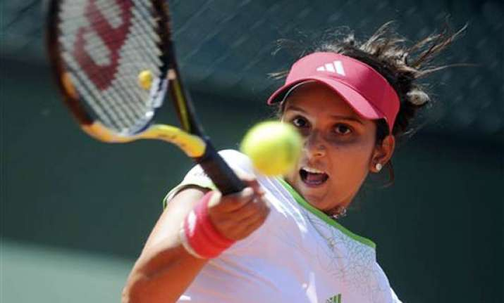 sania wins first round of french open