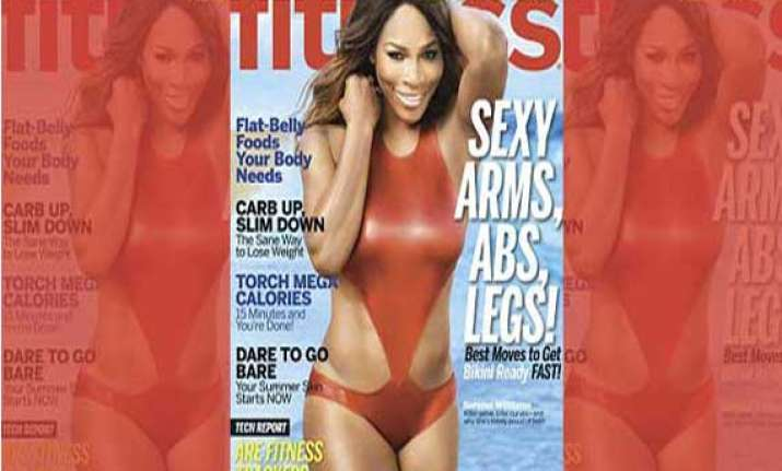 serena williams poses for a fitness magazine