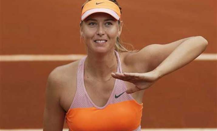 sharapova advances to french open semifinals