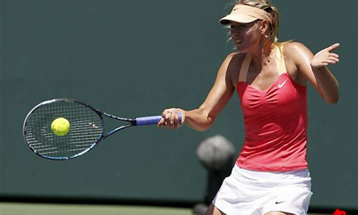 sharapova edges wozniacki in key biscayne semis