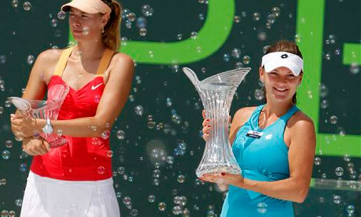 sharapova loses in key biscayne final to radwanska