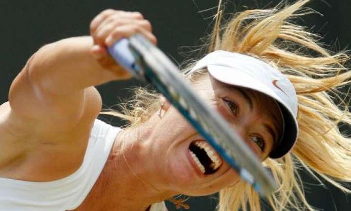 sharapova reaches wimbledon quarterfinals