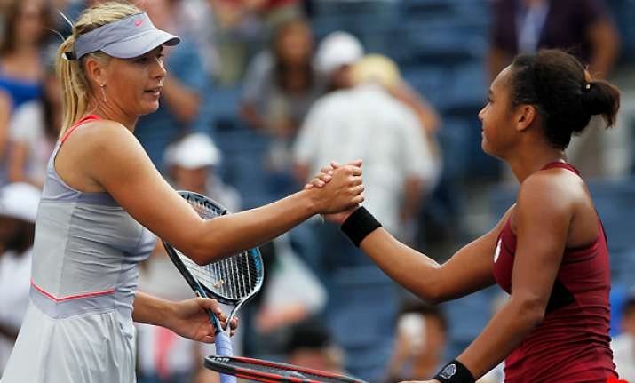sharapova wins kvitova loses on day 1 at us open