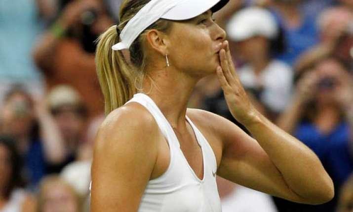 sharapova advances to wimbledon semifinals
