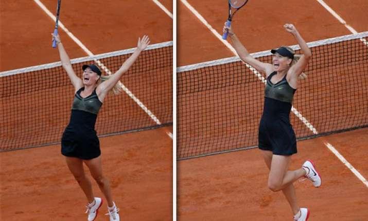 sharapova defeats errani for french open title