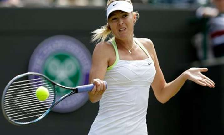 sharapova reaches forth round of wimbledon