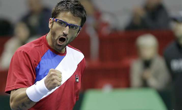 tipsarevic defeats prpic to give serbia 1 0 lead