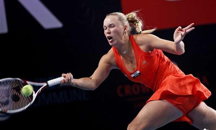 top seeded wozniacki through to e boks open final