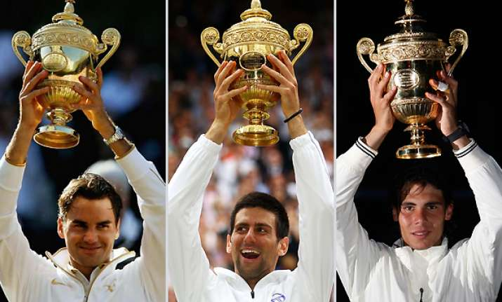 top wimbledon trio won 28 of past 29 majors