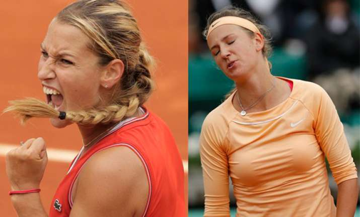 top seeded azarenka loses at french open