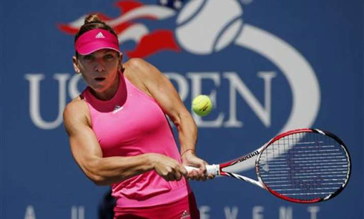 us open halep rallies from set down in 1st round