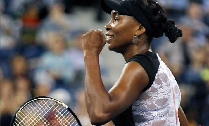 venus williams wins 1st round match at us open