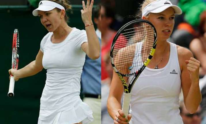 wimbledon halep wozniacki advanced to third round