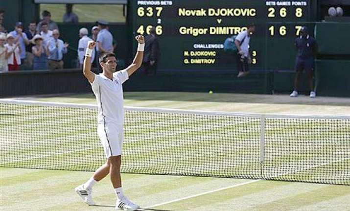 wimbledon novak djokovic holds off grigor dimitrov to reach