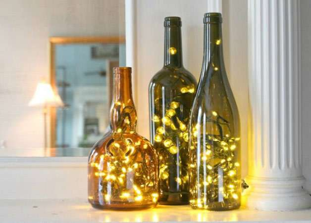 Diwali Special Decoration Ideas Page 40 Beauteous Decorated Wine Bottles With Lights Inside
