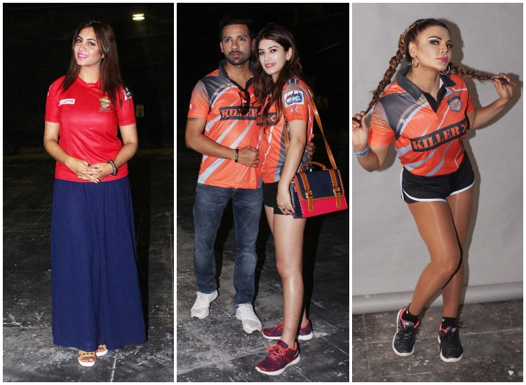 Pics Arshi Khan Puneesh Bandgi Rakhi Sawant Pose For Ekta