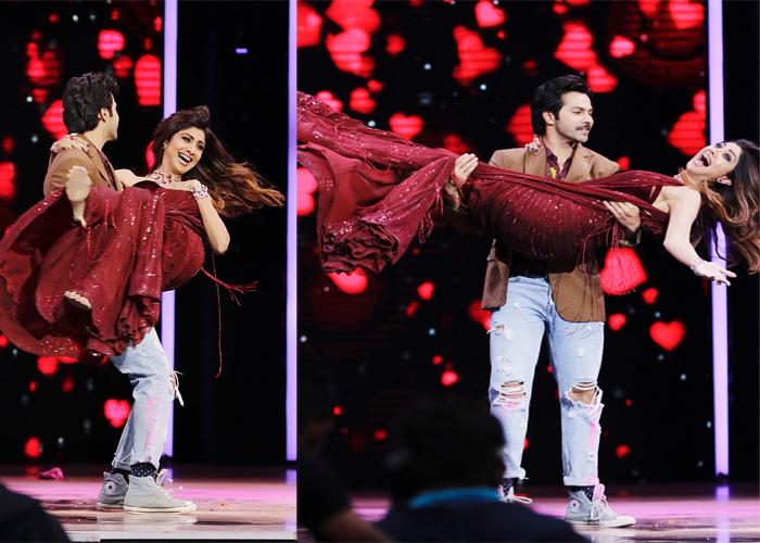 Varun Dhawan promotes October on the sets of Super Dancer