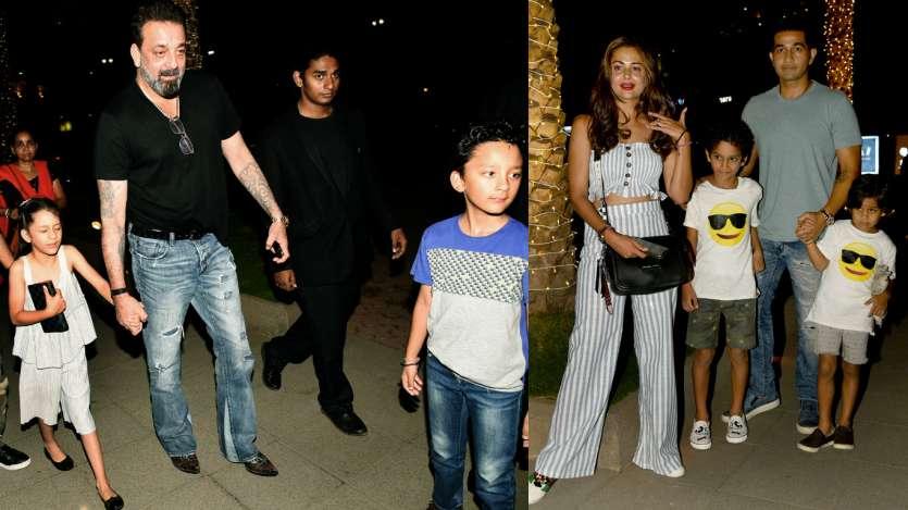 Sanjay Dutt, Amrita Arora take their kids out to dinner  See