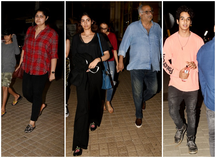 Boney Kapoor clicked with daughters Anshula and Khushi