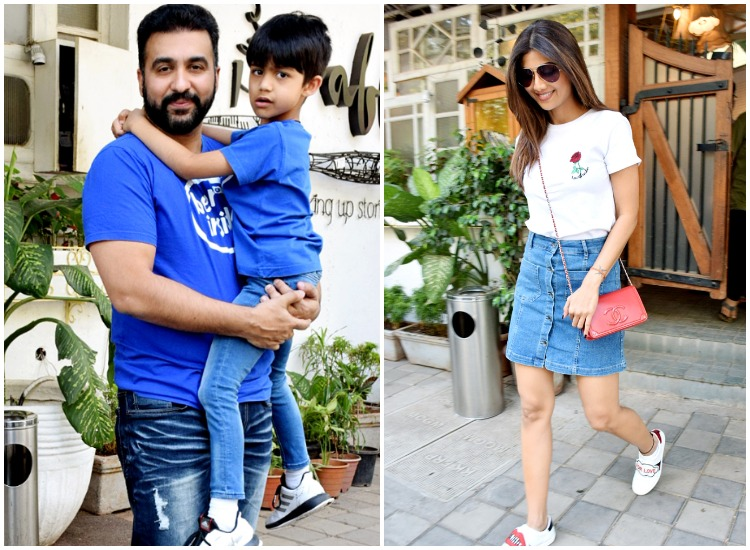 Shilpa Shetty enjoys day out with husband Raj Kundra and son