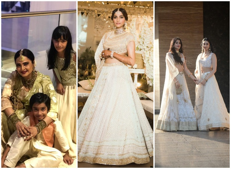 Rekha To Janhvi Kapoor Celebs At Sonam Kapoor S Mehendi And