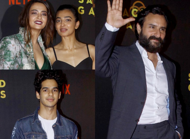 Image result for surveen with saif  in sacred games