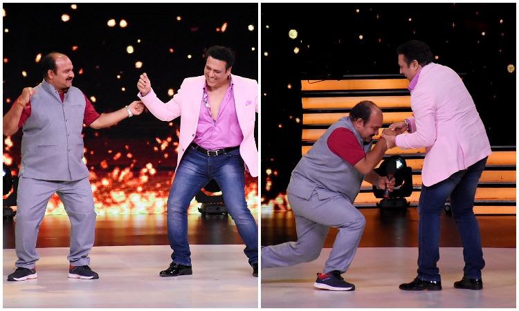 Dancing uncle Sanjeev Srivastav dances with Govinda in Madhuri