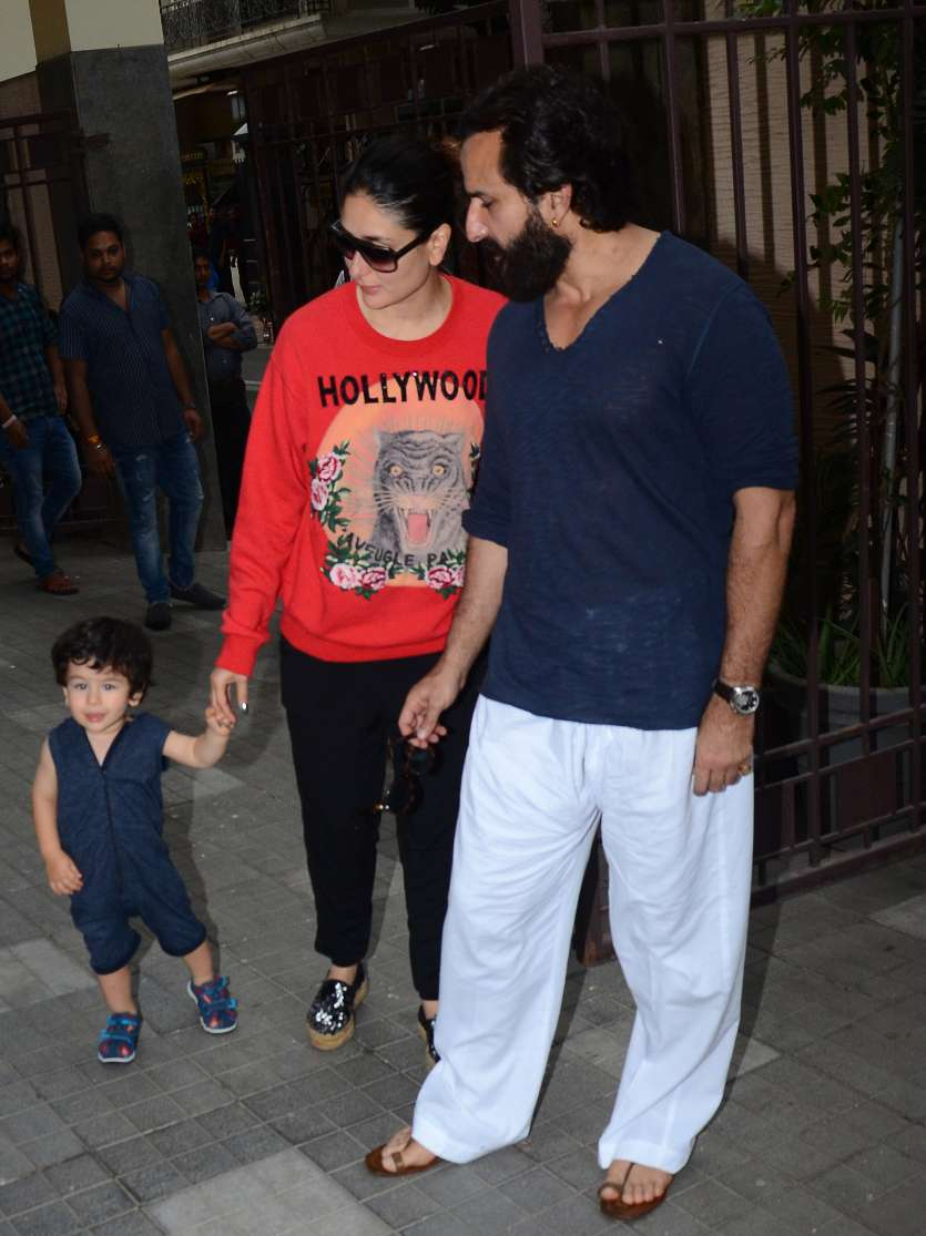 Image result for latest images of taimur ali khan of yesterday at his cousin inaaya home