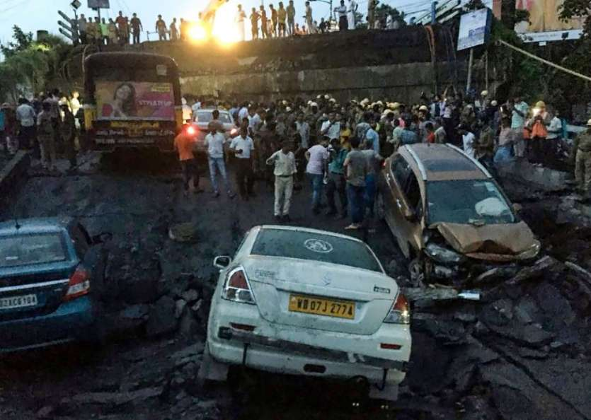 Kolkata bridge collapse killed several injured rescue ops