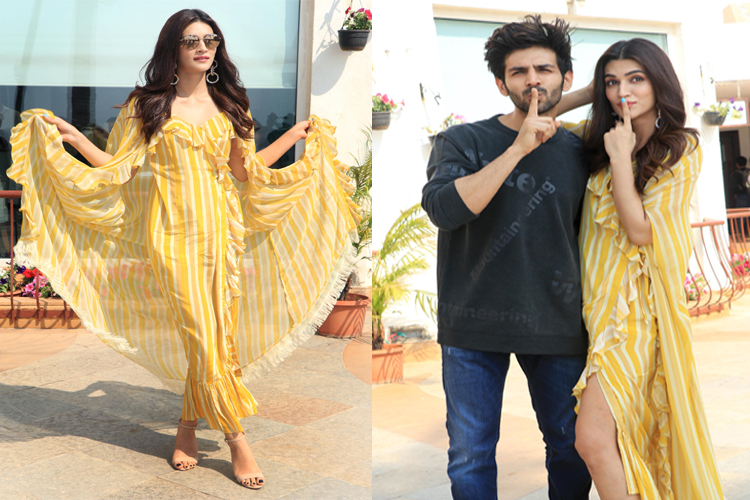 Luka Chuppi Kartik Aaryan Kriti Sanon Promote Their Film In Style
