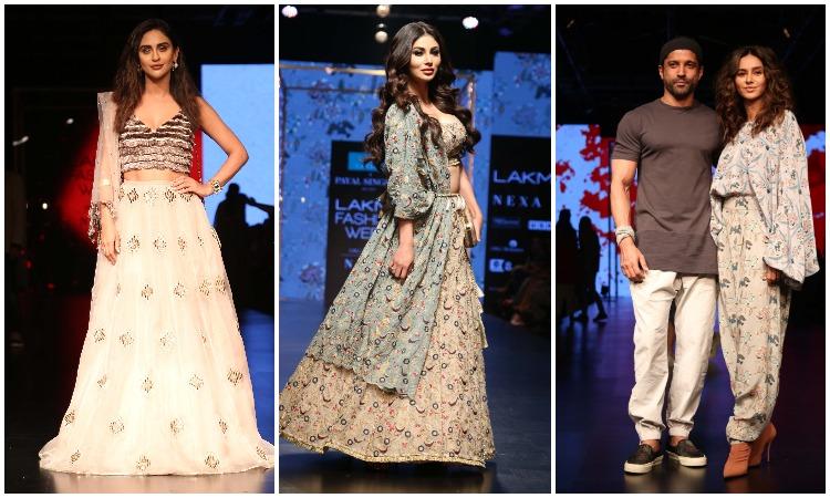 Lakme Fashion Week 2019 Mouni Roy Makes Her Debut Farhan Akhtar Walks With Girlfriend Shibani Dandekar