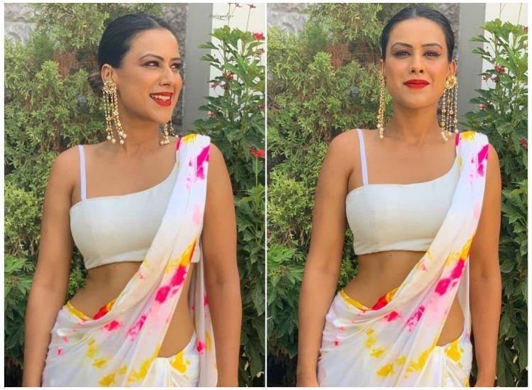 Nia Sharma Looks Absoluetly Stunning In White Saree See Pics