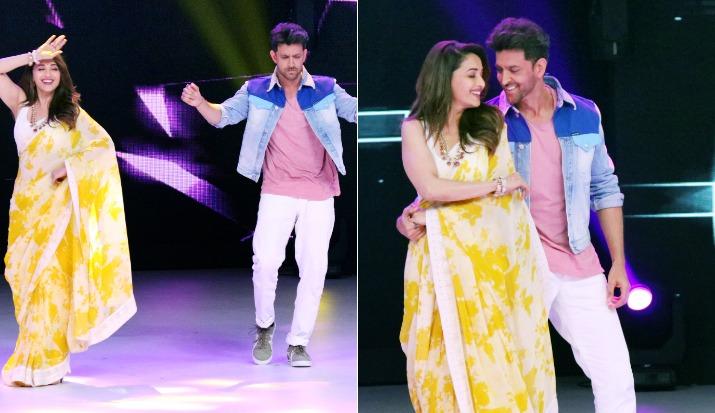 Hrithik Roshan shakes leg with Madhuri Dixit on Dance Deewane sets