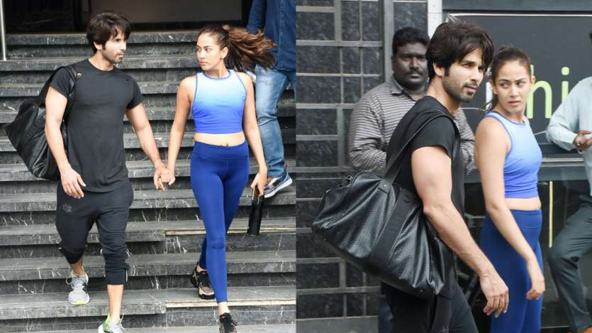 Image result for shahid kapoor mira rajput in gym pic