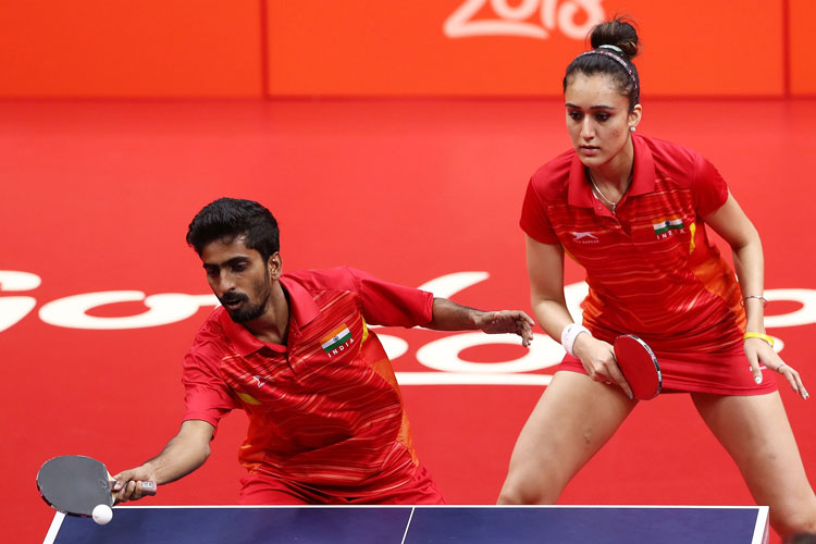 Sathiyan Gnanasekaran paired up with Manika Batra to win the bronze at the 2018 CWG (Source:Getty)