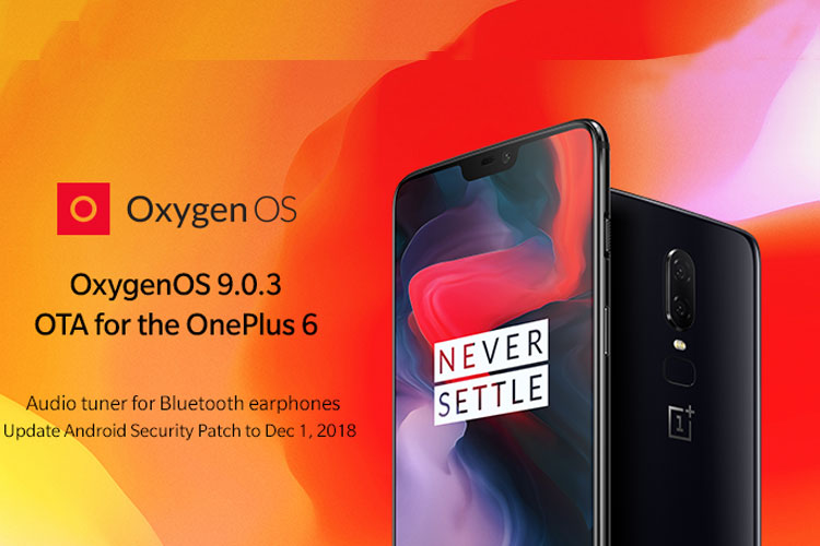 OnePlus 6 new update gets December Security Patch and new
