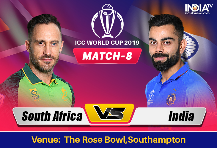 South Africa Vs India World Cup 2019 Match 8 Watch Sa Vs Ind Match Online On Hotstar Cricket Jio Tv Star Sports 1 2 Cricket News India Tv