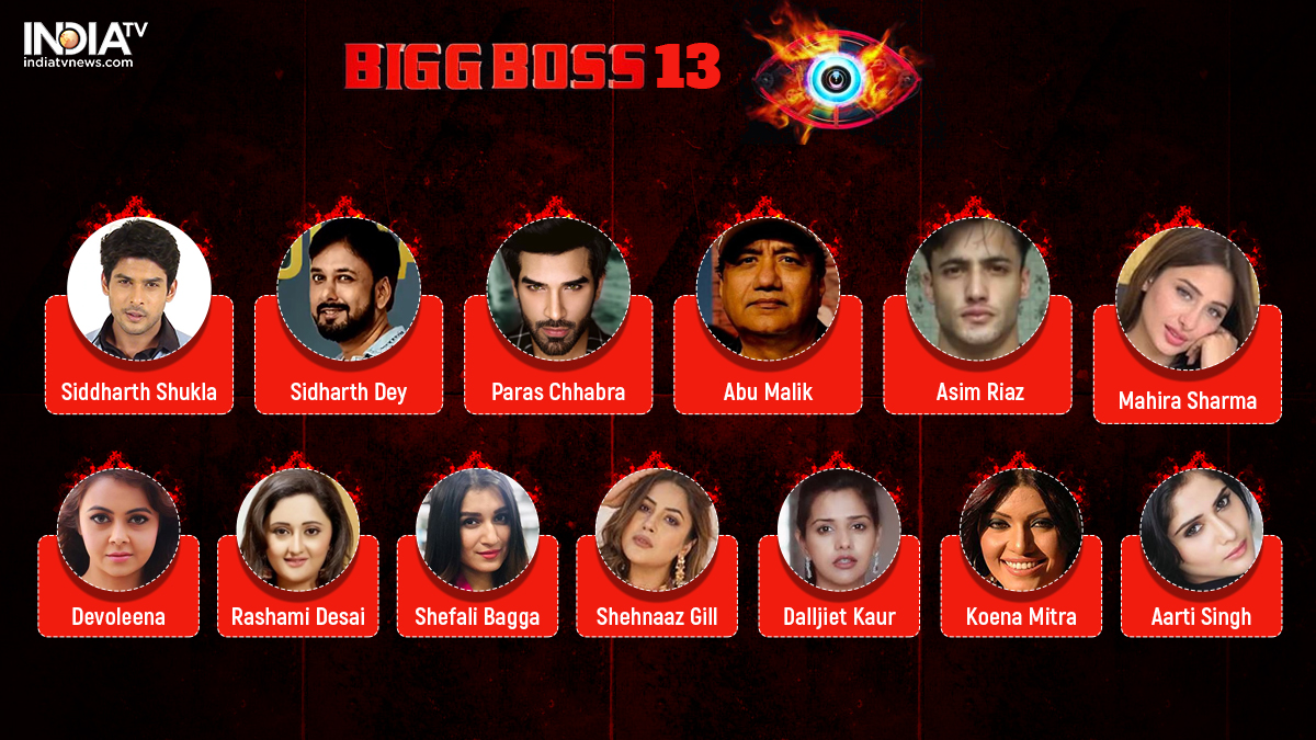 Bigg Boss 13 Final Contestants Meet The Famous Faces Who
