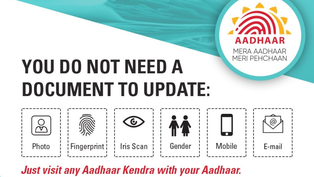 Aadhaar card: No documents needed to update photo or biometrics, just visit  UIDAI-run Aadhaar Seva Kendra | Aadhaar News – India TV