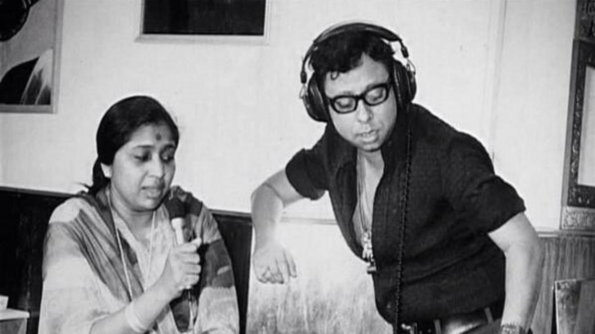 R D Burman with Asha Bhosale