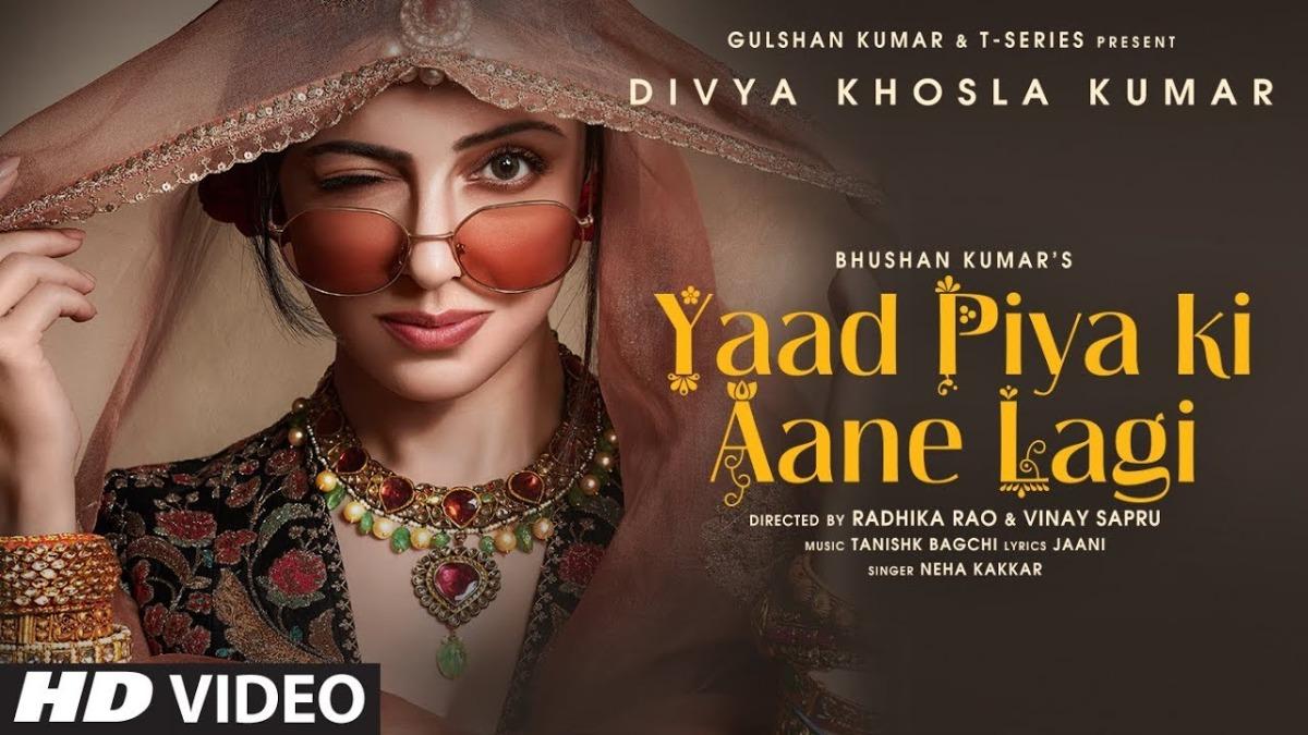 Yaad Piya Ki Aane Lagi Divya Khosla Kumar Looks Sassy In Recreated Version Of Falguni Pathak S Song Music News India Tv