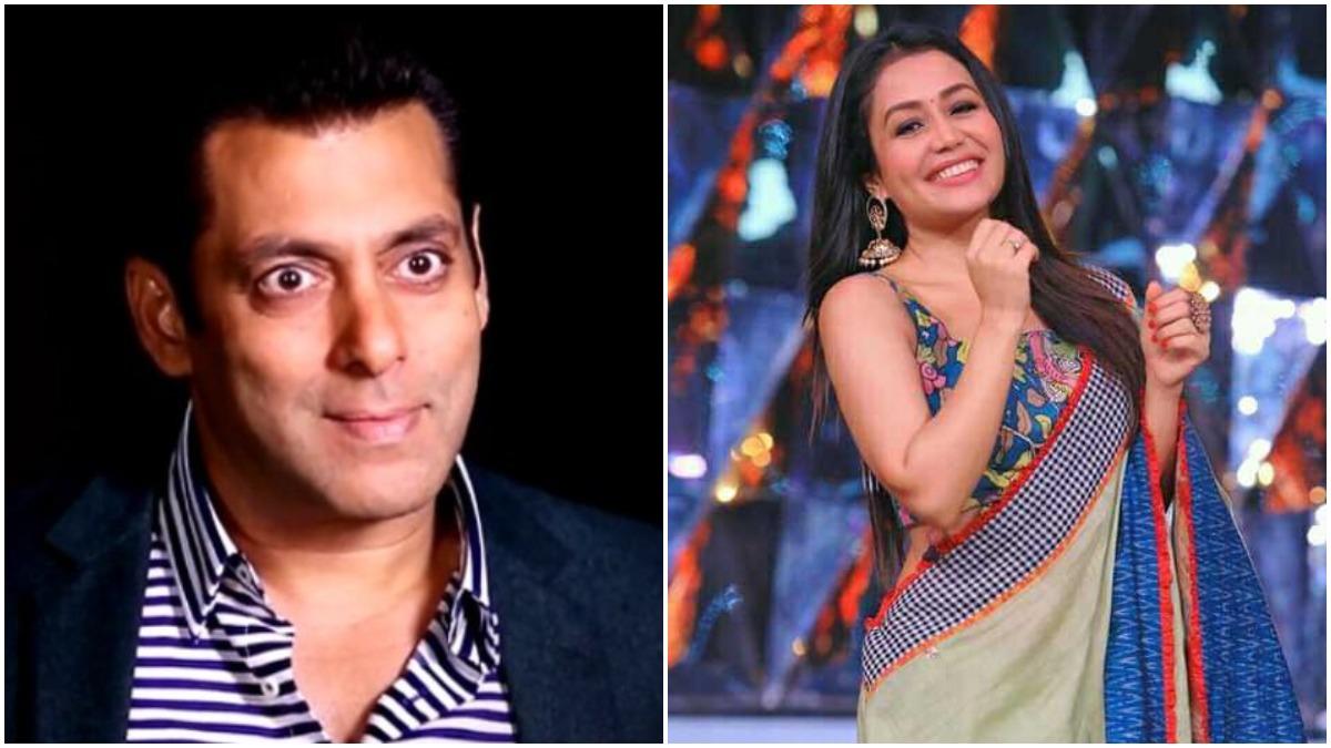 Neha Kakkar S Shoe Size Leaves Salman Khan Amused Watch Video Celebrities News India Tv