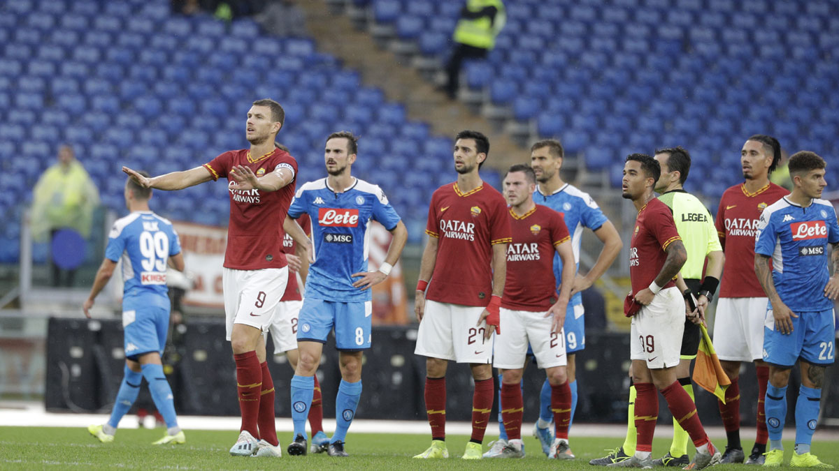 Serie A Discriminatory Chants Prompt Suspension Of Roma Napoli Game Soccer News India Tv