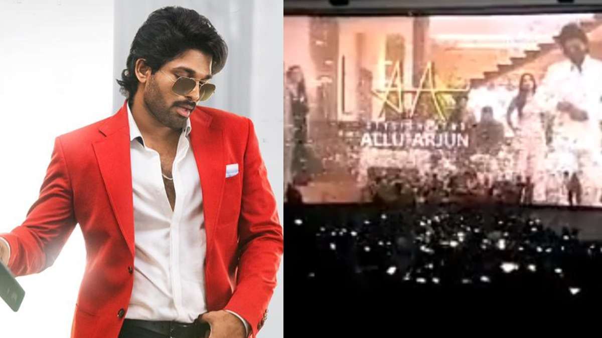 Allu Arjun S Fans React Crazily In Theatre While Watching Ala Vaikunthapurramuloo Watch Video Regional Cinema News India Tv