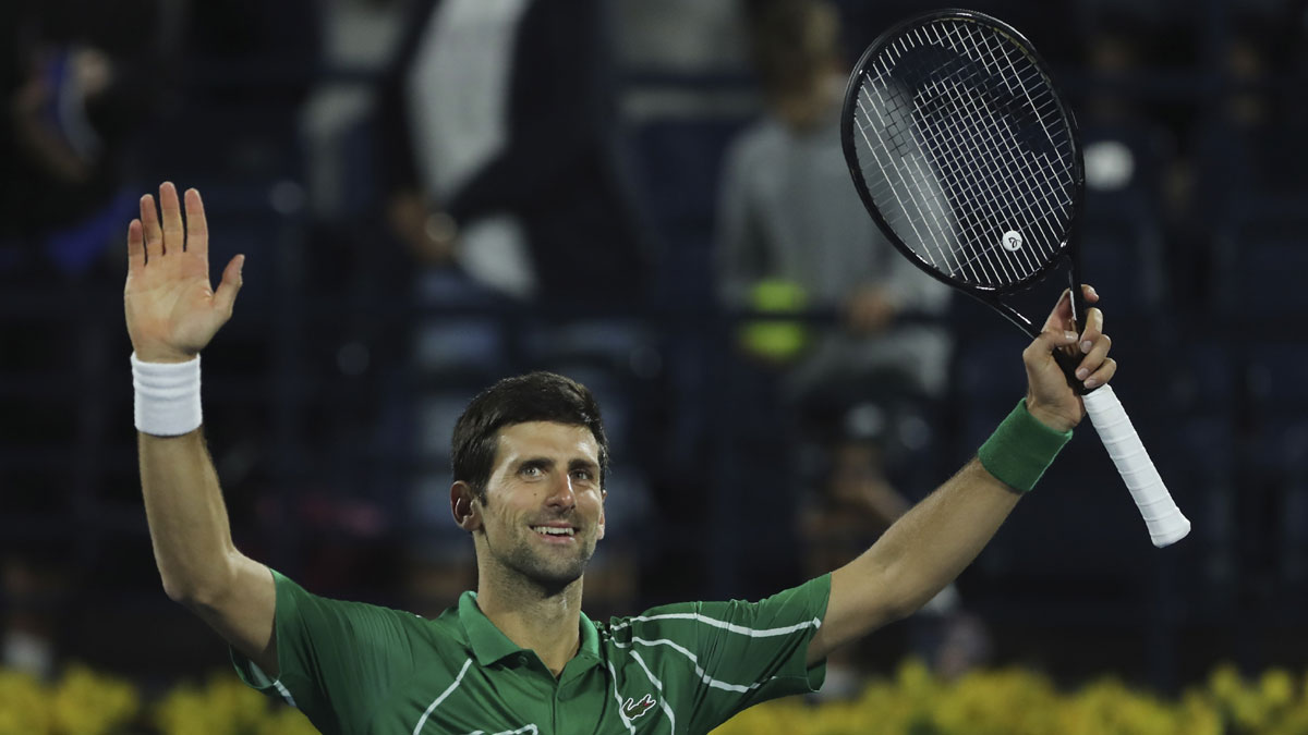 Novak Djokovic Sets Up Dubai Semifinal Against Gael Monfils Tennis News India Tv
