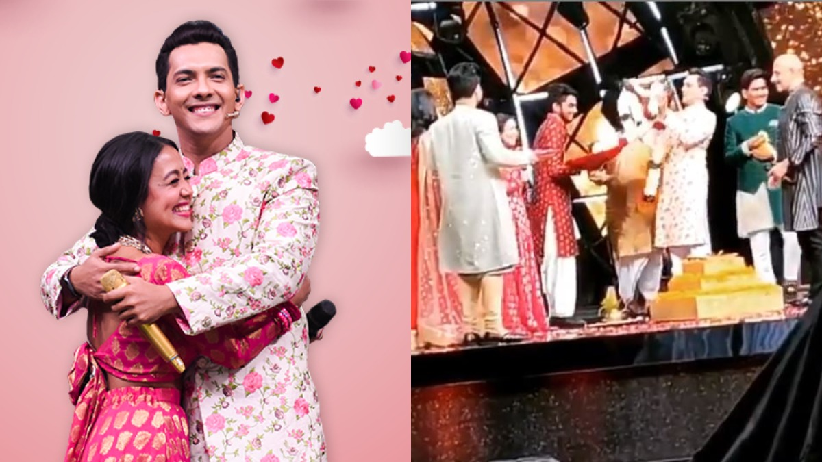 Video Of Neha Kakkar Aditya Narayan Taking Pheras On Indian Idol 11 Goes Viral Tv News India Tv