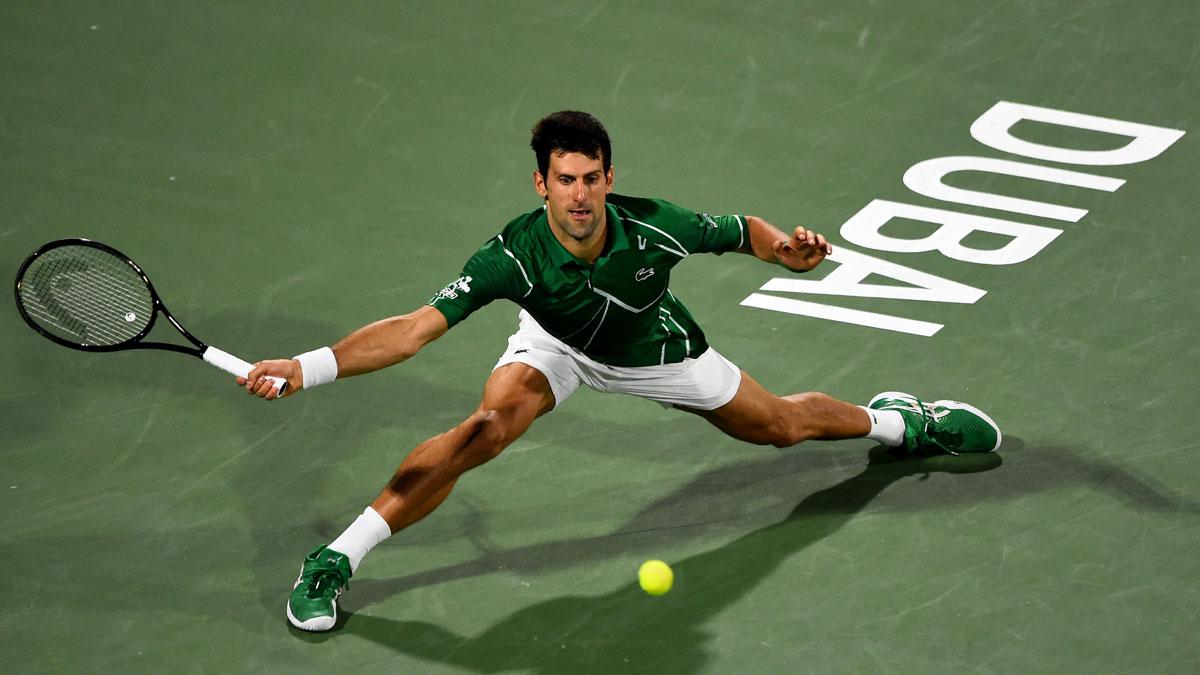 Novak Djokovic Saves 3 Match Points Against Gael Monfils To Enter Dubai Championships Final Tennis News India Tv