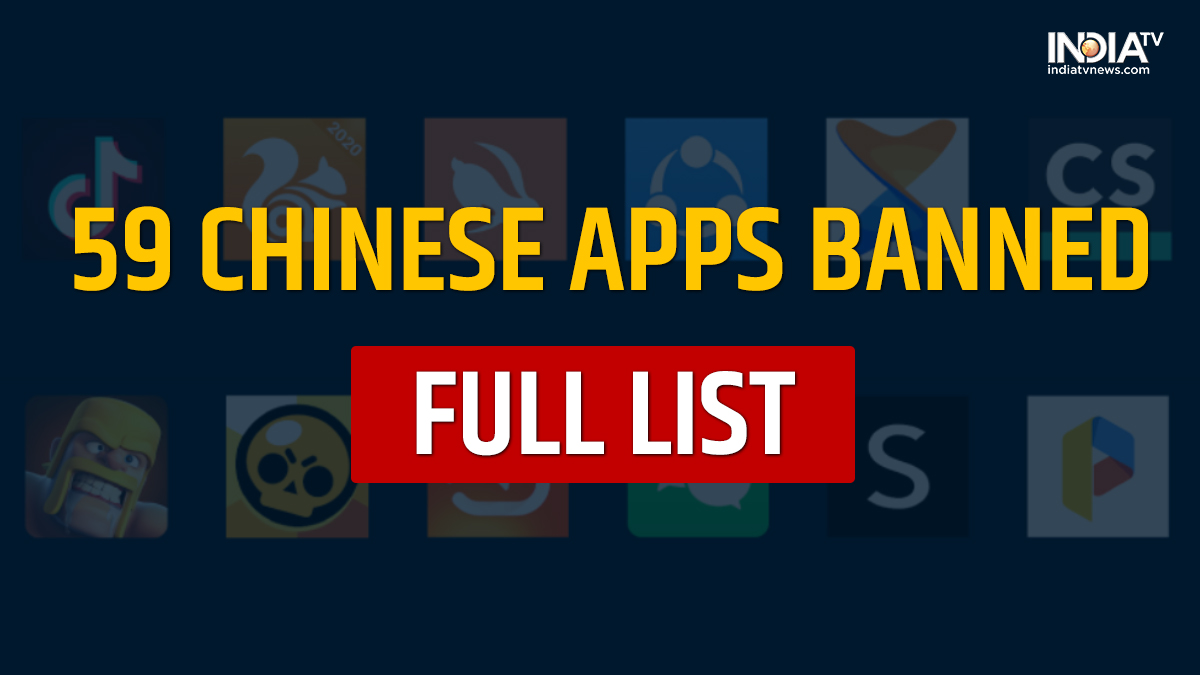 Full List of 59 Chinese apps banned in India, tiktok, ShareIt, Likee,  wechat, Helo, shein, UC Browser, full list chinese | Business News – India  TV